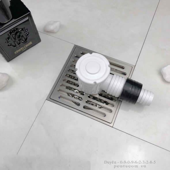 Thoát sàn đấu nối máy giặt có phụ kiện 10001 đi kèm giúp thoát nước nhanh, ngăn mùi hiệu quả